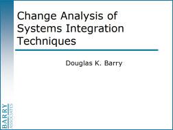 Change Analysis of Systems Integration Techniques